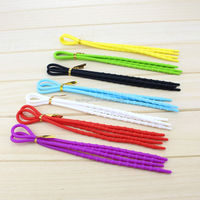 Supermarket Wholesale Latest New Glow In The Dark Silicone Shoelace Round Sports Shoelaces