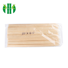 Hot sale good quality 4.0*30cm kitchenware round disposable soak bamboo skewers