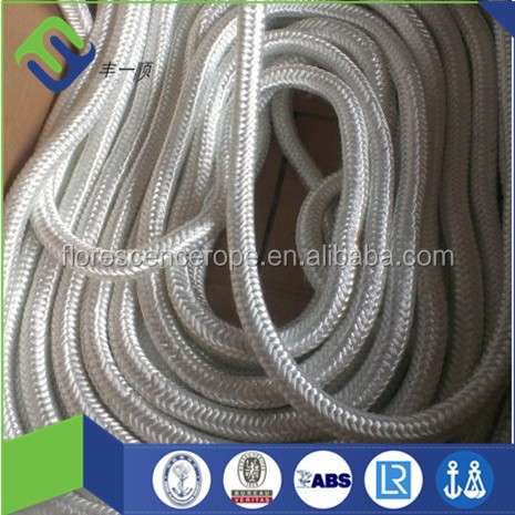 high strength mooring rope polyamide nylon double braided rope 28-120mm