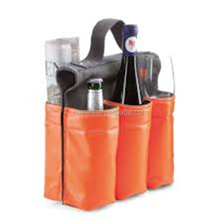 Custom 6 Pack Beer Cooler Bottle Holder Bag For Bike
