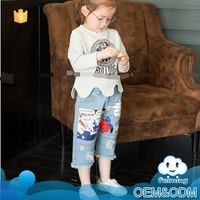 2016 wholesale clothes new arrival good elastic simple and elegant design jeans for kids