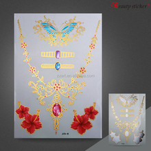 adult temporary body crystal jewelry rhinestone tattoos
