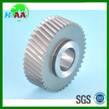High wear resistance plastic helical tooth gears with hobbing gear machines