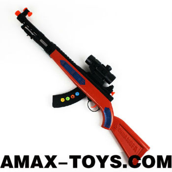 sgun-0222244B electric toys gun 88cm long emulational infrared electric toys gun with sounds, lights and bayonet