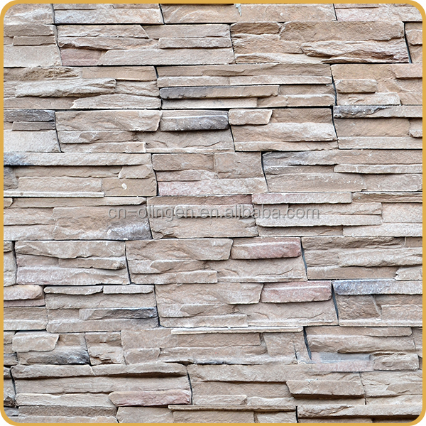artificial stone flat stones crafts for wall decoration