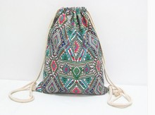 Factory Customized And Finely Processed Wholesale Fabric Drawstring Backpack