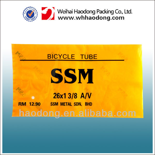 T-seal style plastic bag for bicycle tube