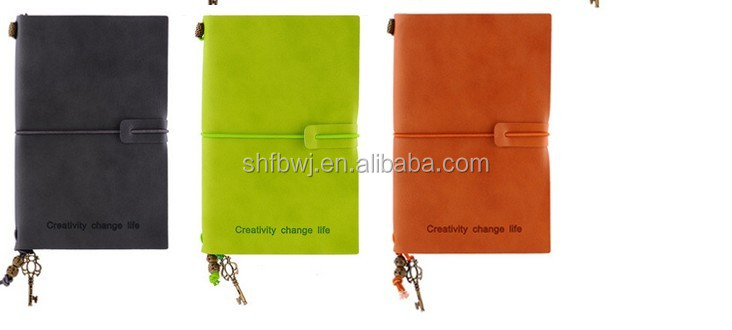 100 pages pu leather notebook leather notebook imported from China