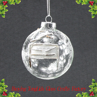 Christmas Ornamnets Clear Glass Snow Ball