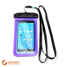 Custom PVC waterproof plastic case Clear waterproof neck case for iPhone