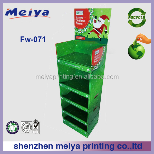 Meiya Custom cosmetic facial cleanser cardboard floor display stand retail Supermarket Candy Display Rack for Retail Sales