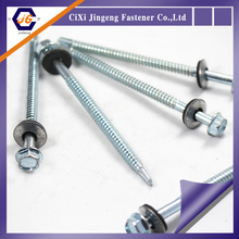 Cixi Zhejiang China manufacture din7504 hex washer head self drilling screws with EPDM