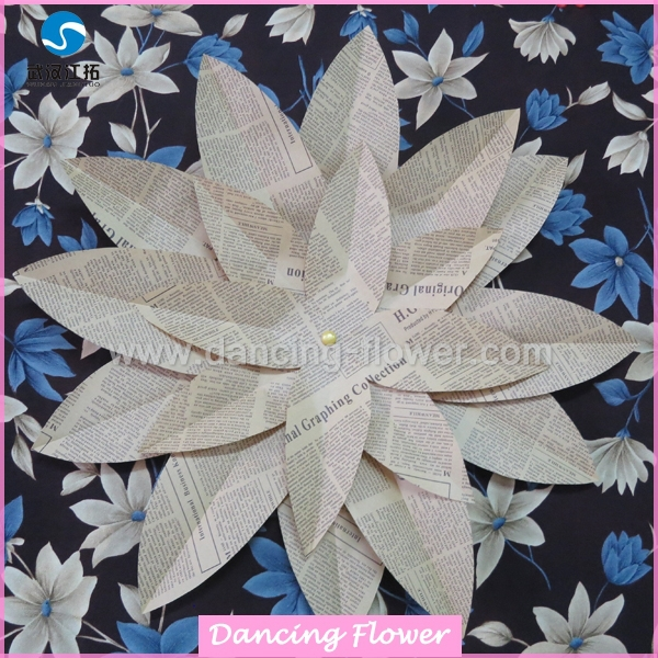 Newspaper cuting handmade Flower Decoration picture frame