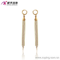 91113-xuping latest gold chains earrings designs
