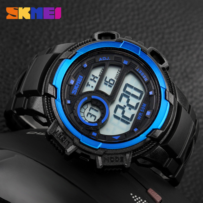 guangzhou manufacturer&exporter chrono sports digital watch blue