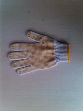 pvc dotted working glove/working gloves with pvc dots