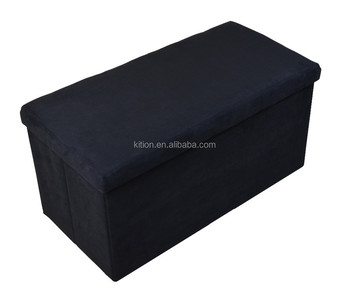 2015 folding storage ottoman foldable storage pouf OEM