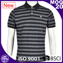 factory manufacture customized men striped polo shirts