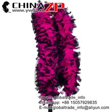 Gold Power Supplier CHINAZP Factory Wholesale Halloween Costume 150 Gram Dyed Hot Pink with Black Tip Sexy Turkey Feather Boa
