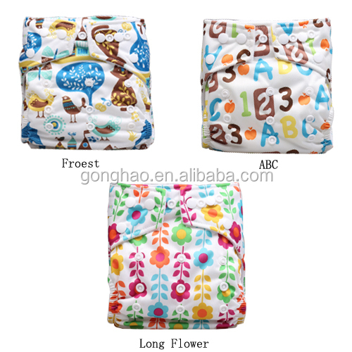 Bamboo Charcoal Baby Cloth Pocket Diapers Manufacturer Made In China
