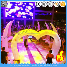 event&party decoration LED light inflatable tusks/ivory/elepant horn for wedding