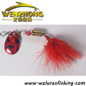 Wholesale metal jig fishing lure bucktail jig with hook jig head with skirts fishing tackle