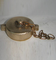 "1.5"" Brass dust cap with chain"