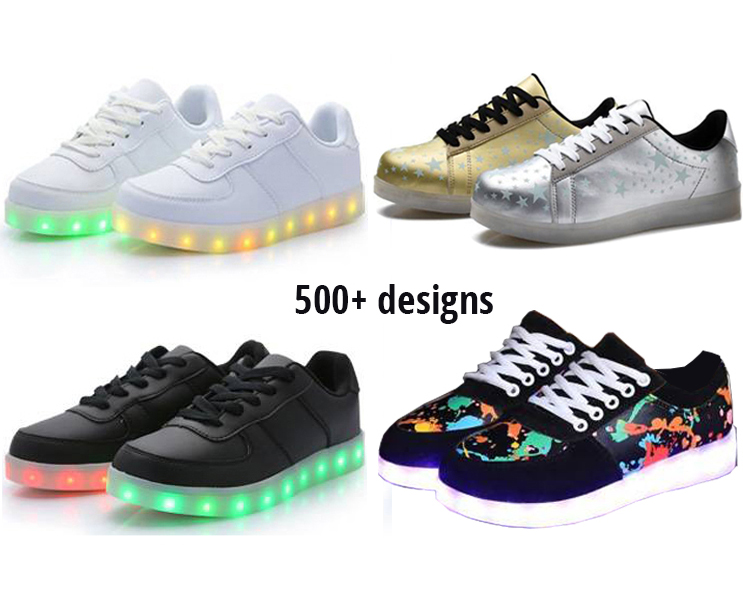 Original High quality USB charge lithium battery led flashing shoes adult