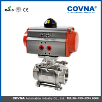 pneumatic steam control valve with positioner