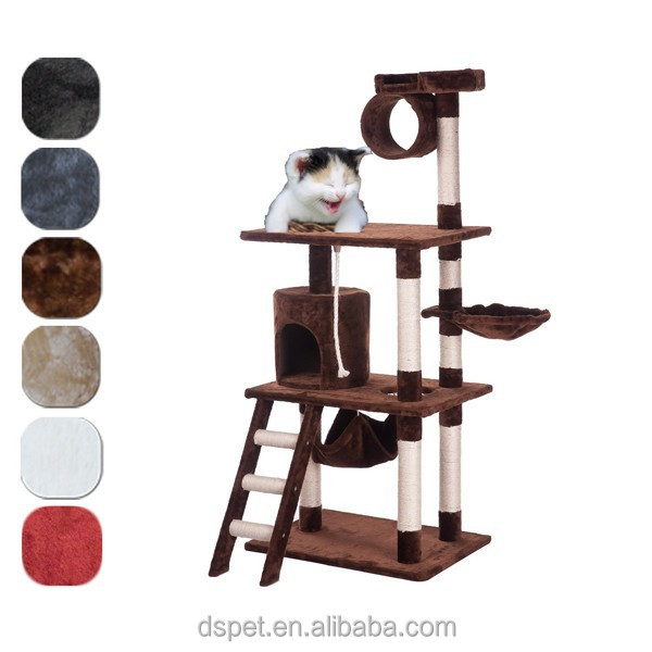 "Dspet 38""W x 27""L x 62""H Cat Tree Condo Cat House Furnitures Sisal Scratching Post pet products modern house design Cat gym"