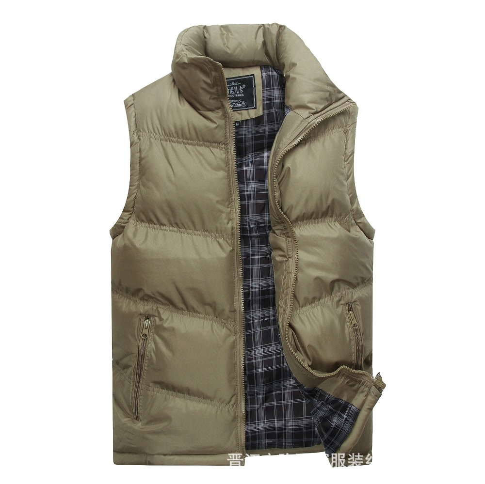 2014 New Arrival mens vests winter thick warm cotton down jacket outdoor fishing vests brand colete pesca mens casual vest coats