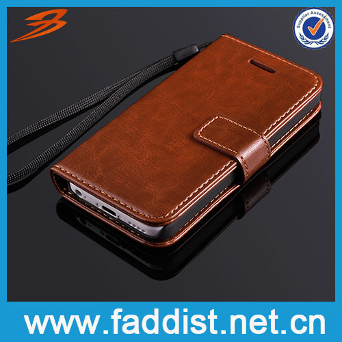 Luxury Wallet Flip Leather Phone Cover for iphone 5c PU Case