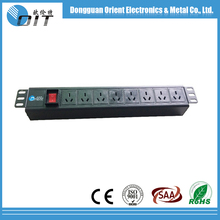 1 U 8 outlet China type Rack Mount industrial plugs and sockets switch PDU With Off-Live Switch
