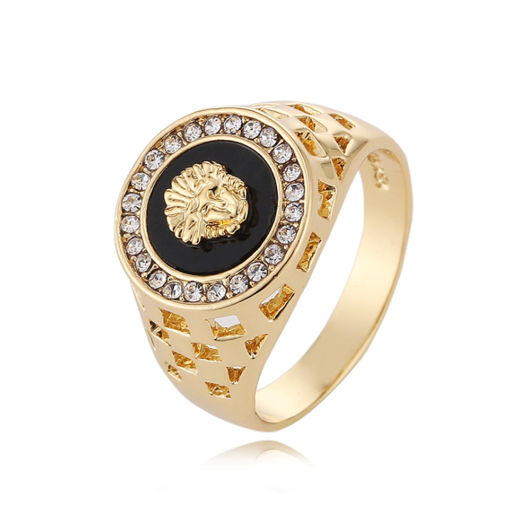 New Fashion Gold Silver Lion Classic Men's Punk Style <strong>Rings</strong> Males Man Finger <strong>Ring</strong> Designs For Men