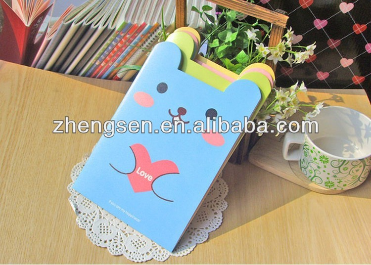 2014 top sale glue shaped notepad