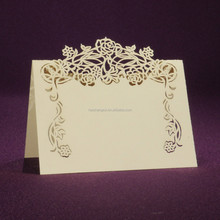 Ivory paper wedding place card