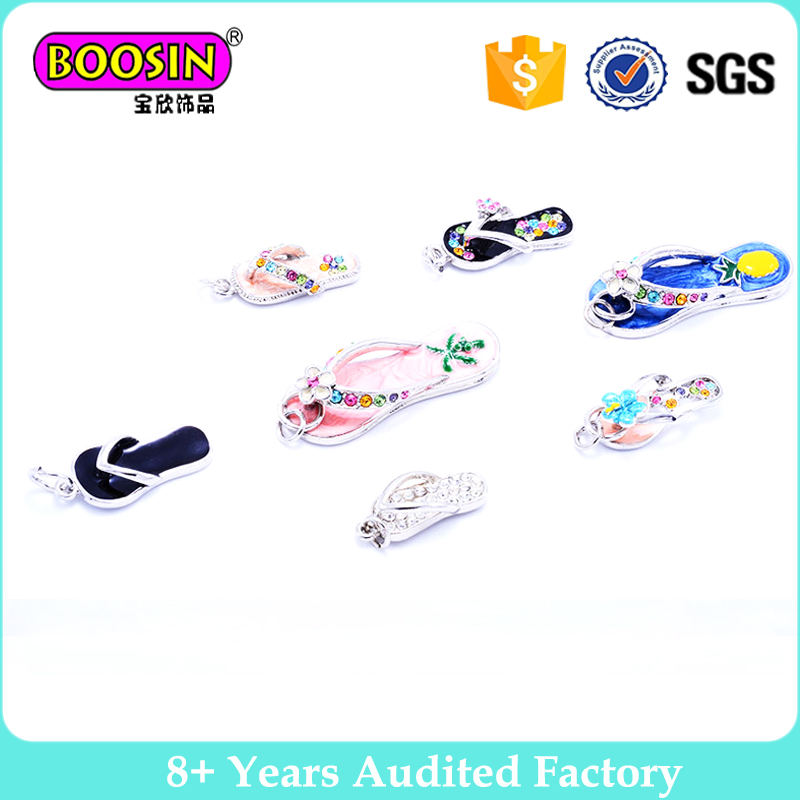 100pcs Charms flip flops small pendant Shoes Charms DIY for bracelet necklace