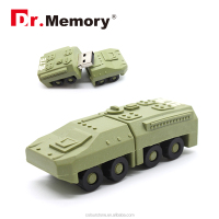 Dr.memory 2016 hot new armoured vehicles silicone usb flash drive,Promotional Custom usb, 100% Real Capacity