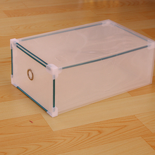 Promotional Foldable Clear PP Plastic Shoe Storage Box