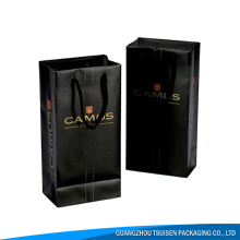 custom made luxury single wine bottle paper wine gift bag