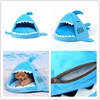 cheap price shark pet house cat cave dog bed