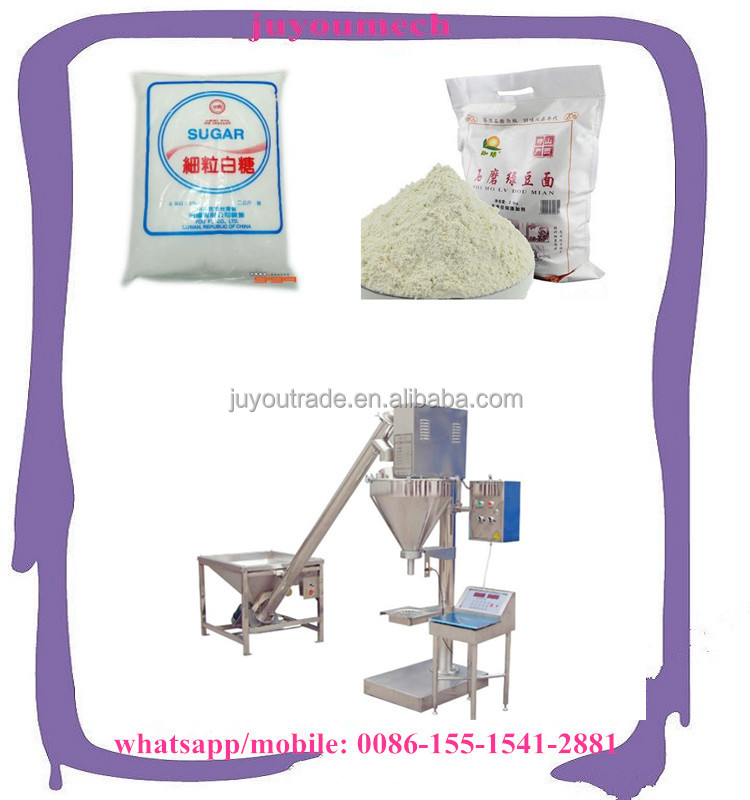 High accuracy sugar powder/salt powder/milk powder weighing auger filling machine