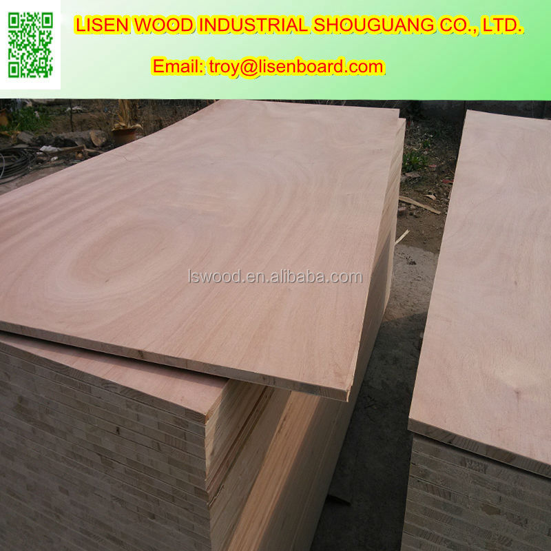 18mm wood laminated block board with pine core
