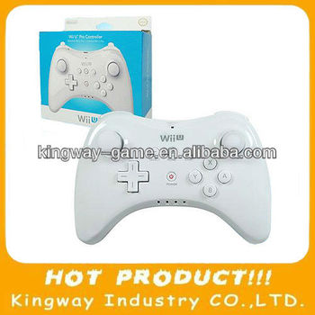 White Color For Wii U Pro wireless Controller Joypad