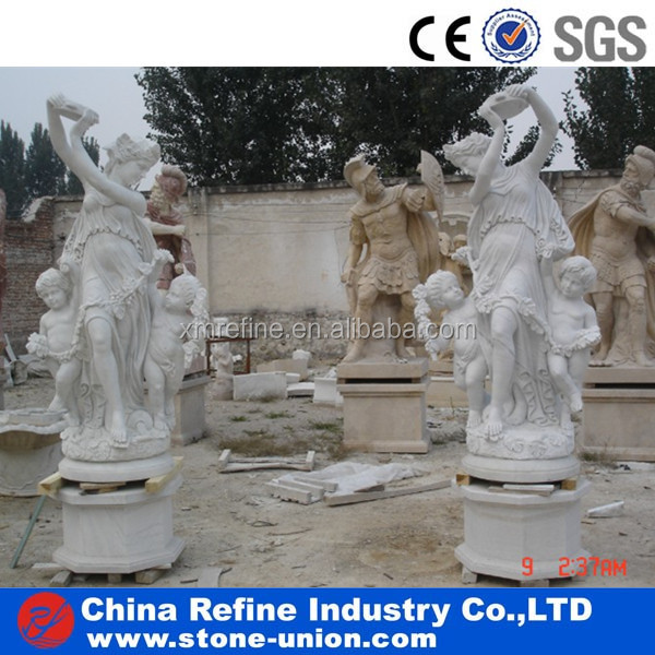 Beauty women staue carving stone