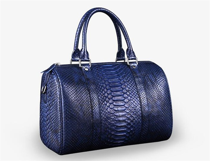 OEM Men's High End Real Python Snakeskin Leather Travel Duffle Bag for Clothes Storage_8