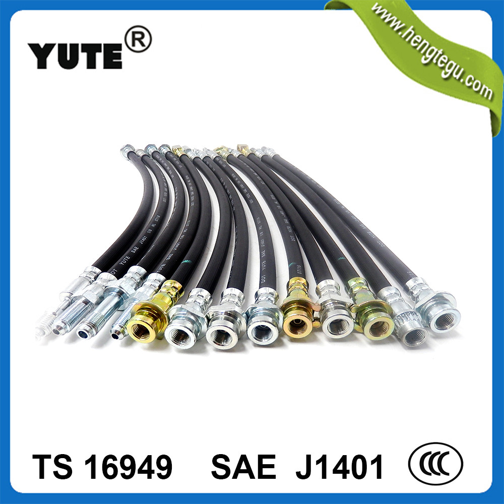 sae j1401 auto flexible hydraulic brake hose with assembly