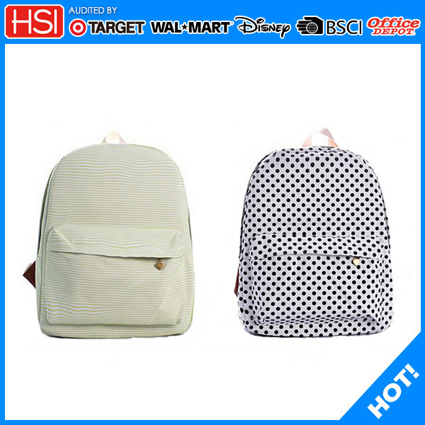 stationery new fashion canvas cotton school bag