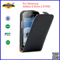 Ultra Slim Leather Flip Case for Samsung Galaxy S Duos 2 GT-S7582