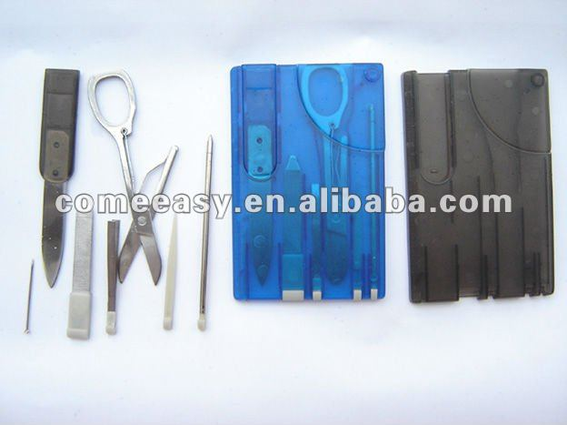 mini promotion gift blue color swiss card multi tool